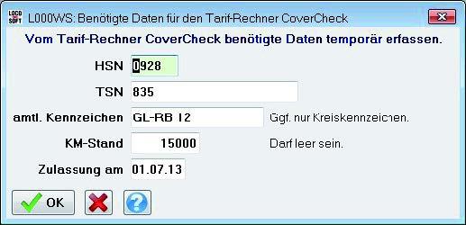 Loco CoverCheck Schnittstelle24